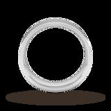 Goldsmiths 7mm Flat Court Heavy Wedding Ring In Sterling Silver