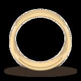 Goldsmiths 7mm Flat Court Heavy Milgrain Centre Wedding Ring In 18 Carat Yellow Gold