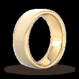 Goldsmiths 7mm Flat Court Heavy Matt Finished Wedding Ring In 9 Carat Yellow Gold