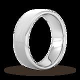 Goldsmiths 7mm Flat Court Heavy Matt Finished Wedding Ring In Platinum
