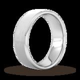 Goldsmiths 7mm Flat Court Heavy Polished Chamfered Edges With Matt Centre Wedding Ring In 950 Palladium