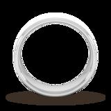Goldsmiths 7mm Flat Court Heavy Diagonal Matt Finish Wedding Ring In 9 Carat White Gold