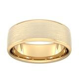 Goldsmiths 8mm Flat Court Heavy Matt Finished Wedding Ring In 9 Carat Yellow Gold