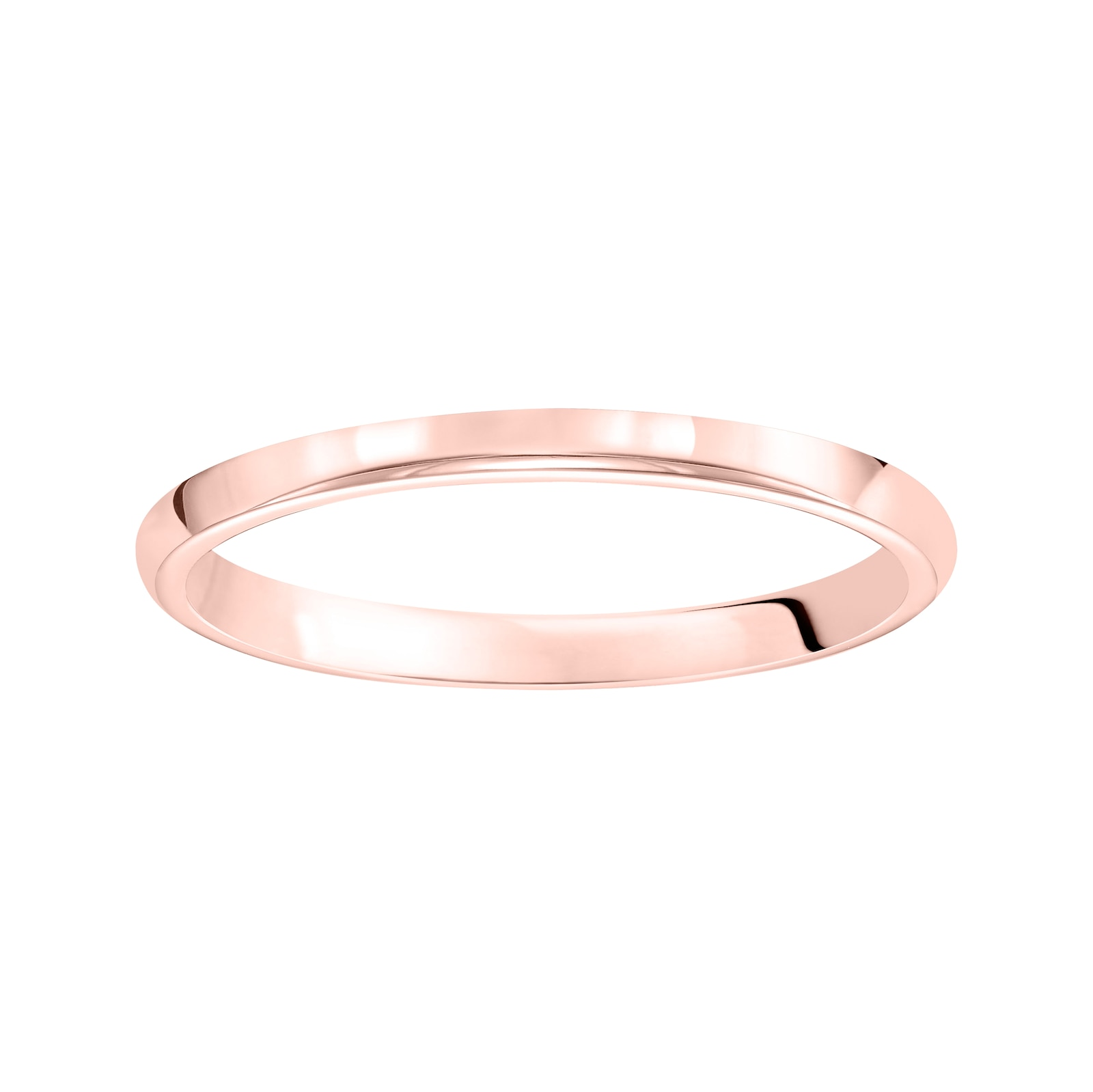 Mayors 18kt Rose Gold 2mm High Dome D Shape Wedding Band