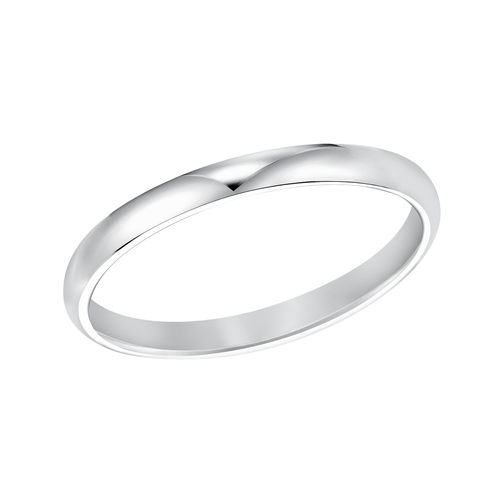 Mayors Platinum 2mm Low Dome Court Wedding Band
