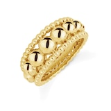 Mappin & Webb Sonnet 18ct Yellow Gold Three Row Band Ring