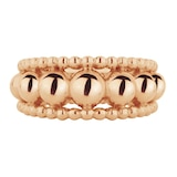 Mappin & Webb Sonnet 18ct Rose Gold Three Row Band Ring