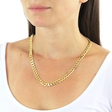 """Goldsmiths 9ct Yellow Gold 7.1mm 20"""" Curb Chain"""