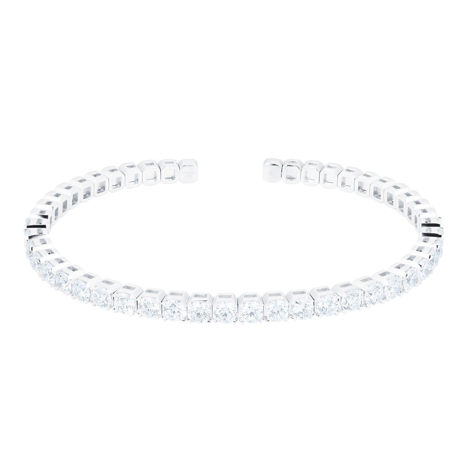 Mayors 18ct White Gold 3.90ct Flex Diamond Bracelet