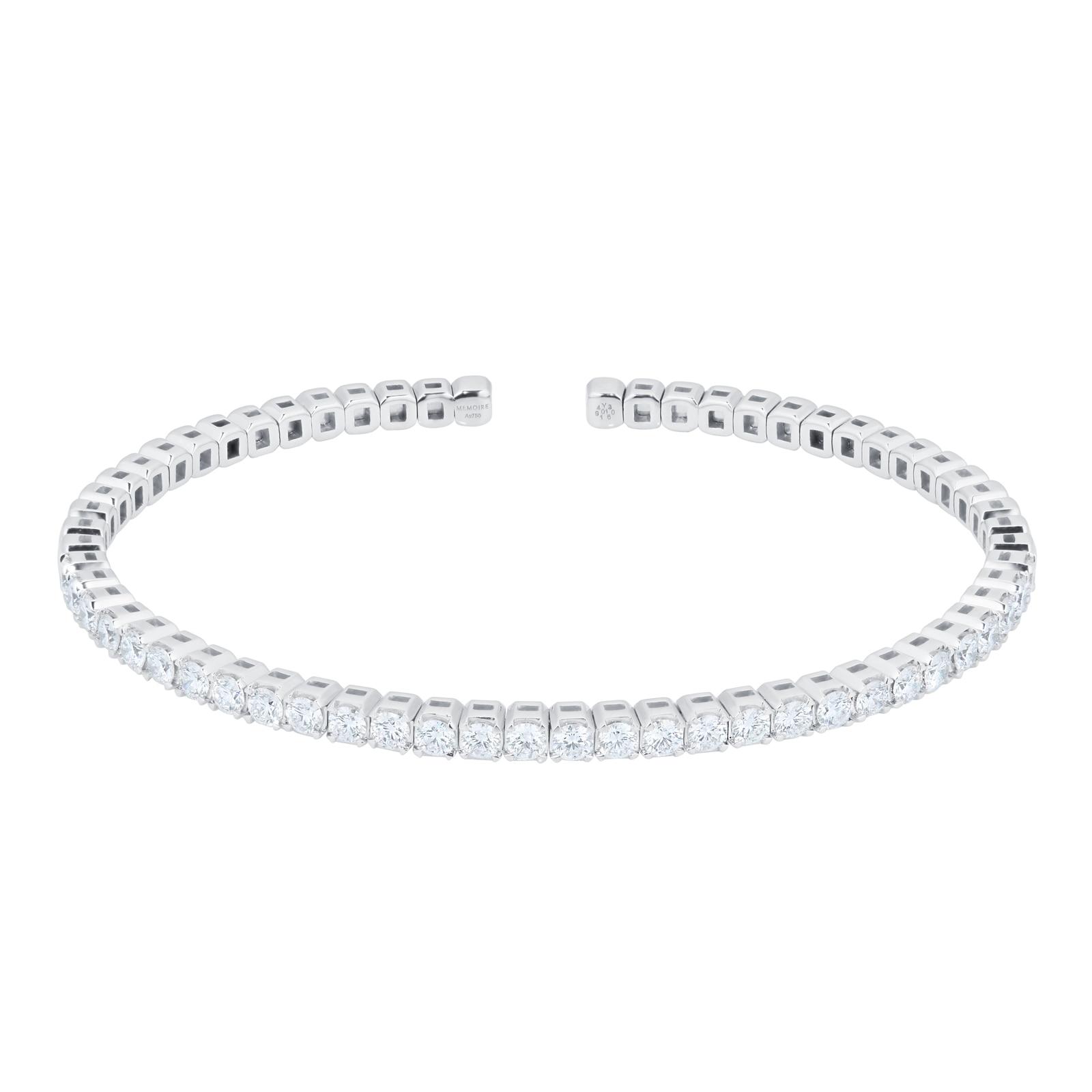 Mayors 18ct White Gold 1.50ct Flex Diamond Bracelet