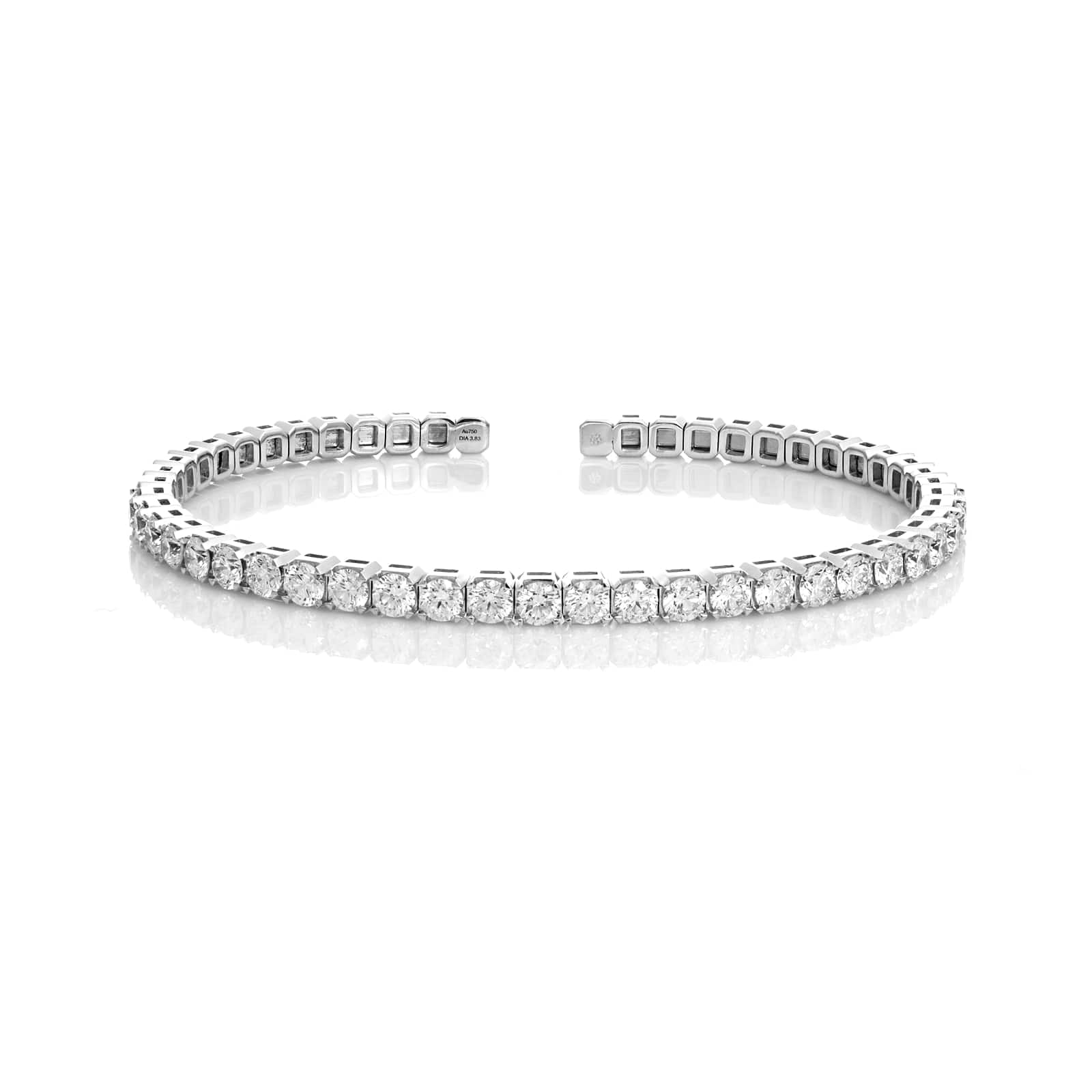 Mayors 18ct White Gold 3.90ct Flex Diamond Bracelet
