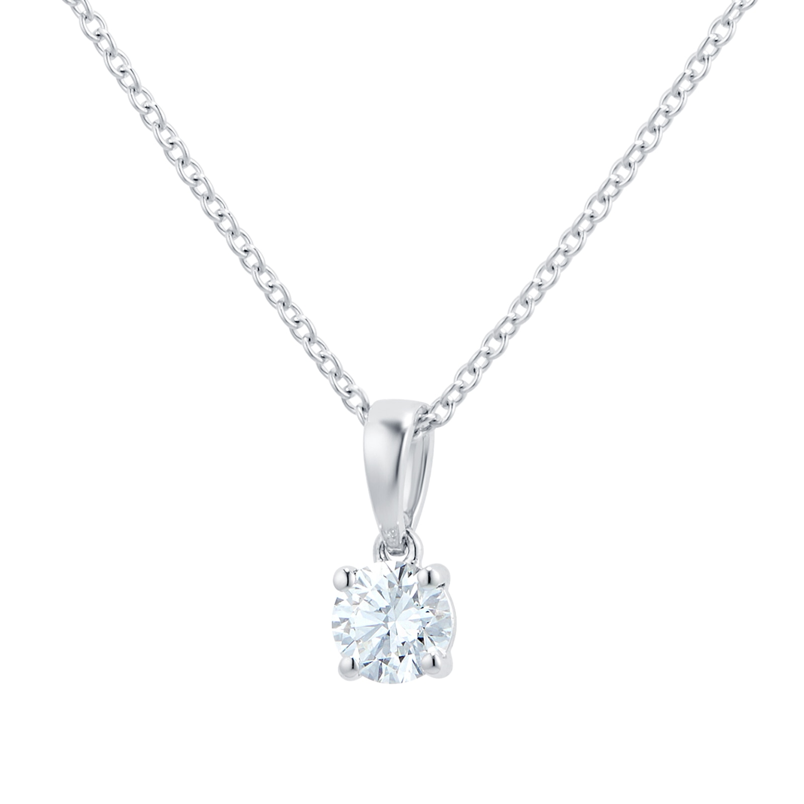 Mayors 18ct White Gold 0.50ct Classic Pendant