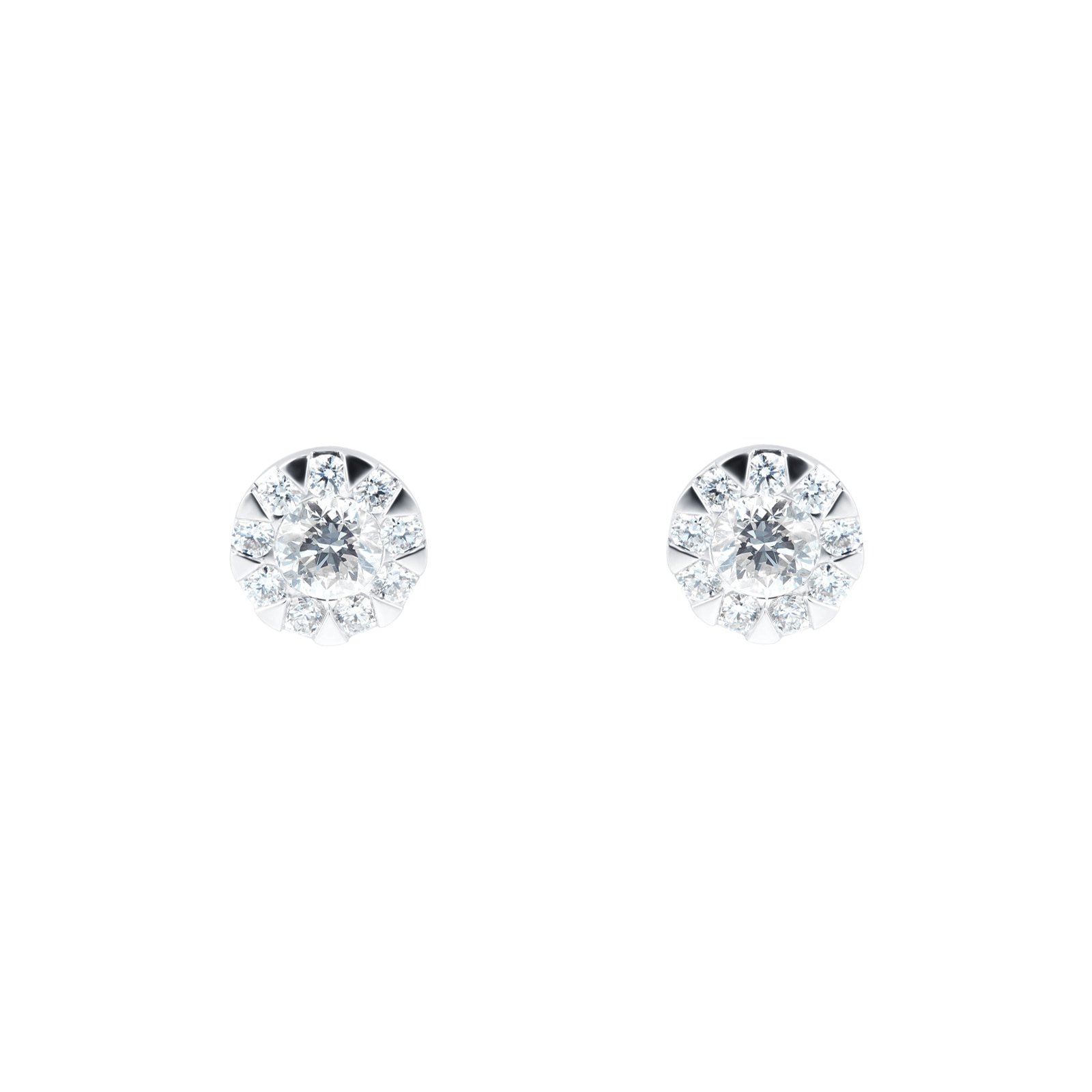 Mayors 18ct White Gold 0.63ct Multistone Earrings