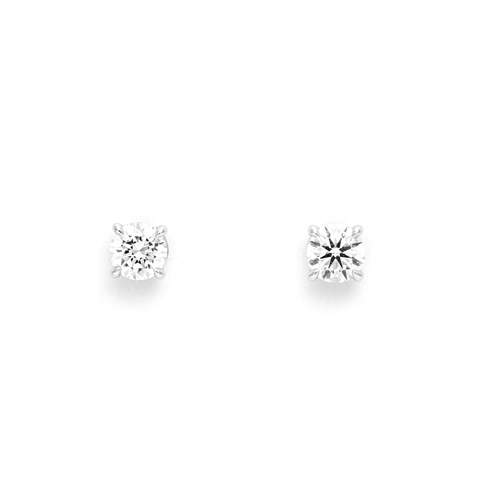 Mayors 18ct White Gold 0.70ct Classic Earrings