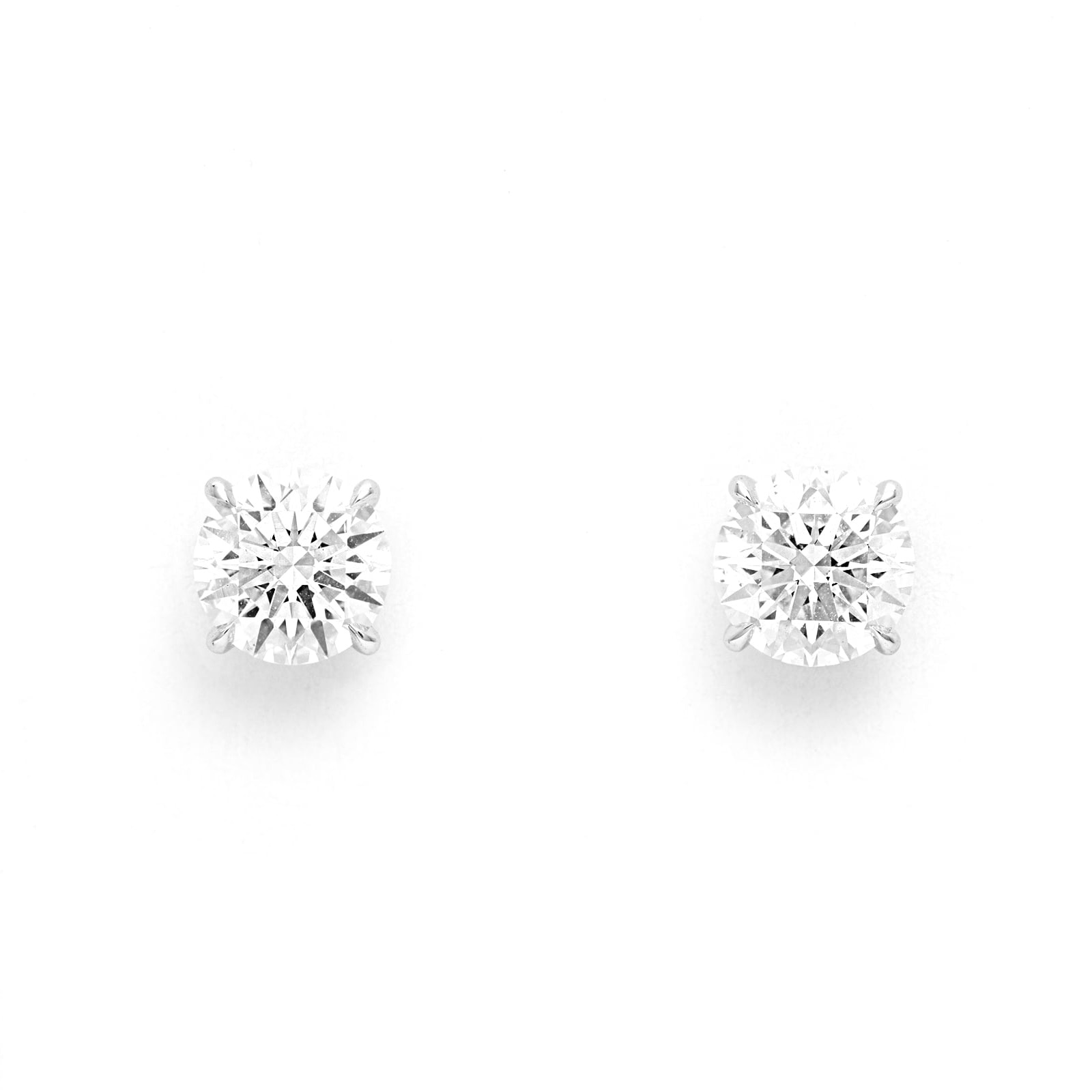 Mayors 18ct White Gold 2.50ct Classic Earrings