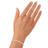 Goldsmiths 9ct White Gold 0.50ct Diamond Bangle