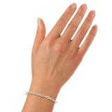 Goldsmiths 9ct Yellow Gold 0.25ct Diamond Interlace Bangle