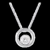 Goldsmiths 9ct Gold 0.30ct Floating Diamond Pendant