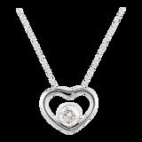 Goldsmiths 9 Carat Gold 0.20ct Floating Diamond Set Heart Pendant