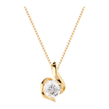 Goldsmiths 9ct Gold 0.25ct Wrapped In Love Diamond Pendant