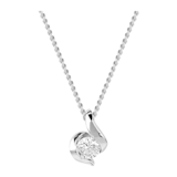 Goldsmiths 9ct White Gold 0.15ct Wrapped In Love Diamond Pendant