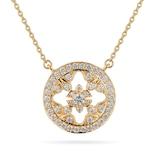 Mappin & Webb Empress 18ct Yellow Gold 0.40cttw Diamond Pendant