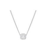 Goldsmiths 9ct White Gold Princess Cut Diamond Halo Pendant