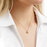 Mappin & Webb Fortune 18ct Yellow Gold Plain Heart Pendant