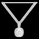 Goldsmiths 9ct White Gold 0.25ct Diamond Set Pendant