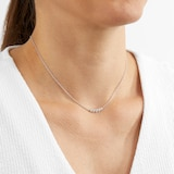 Mappin & Webb Gossamer Silver 0.24cttw 5 Stone Necklace