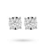 Mappin & Webb Masquerade 18ct White Gold 0.49cttw Diamond Stud Earrings