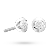 Goldsmiths 9ct Gold 0.10ct Tension Set Diamond Earrings
