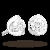 Goldsmiths 18ct Gold 0.40ct Tension Set Diamond Earrings