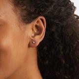 Goldsmiths 9 Carat Gold 0.15ct 4 Claw Diamond Earrings