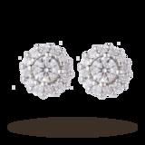 Goldsmiths 9ct White Gold 0.30ct  Diamond Halo Stud Earrings