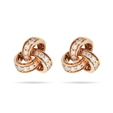 Goldsmiths 9ct Yellow Gold 0.15ct Diamond Knot Stud Earrings