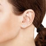 Goldsmiths 9ct White Gold 0.25ct Princess Cut Diamond Stud Earrings