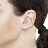 Goldsmiths Rose Gold Vermeil Rose Quartz Stud Earrings