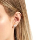 Goldsmiths 9ct White Gold 0.50 Carat Total Weight Diamond Multi Stone Stud Earrings