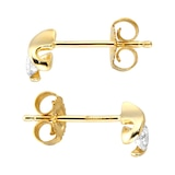 Goldsmiths 9ct Yellow Gold 0.25ct Wrapped In Love Goldsmiths Brightest Diamond Earrings