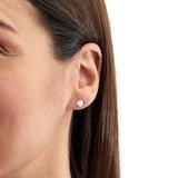Goldsmiths 18ct White Gold 0.40ct Tension Set Goldsmiths Brightest Diamond Earrings