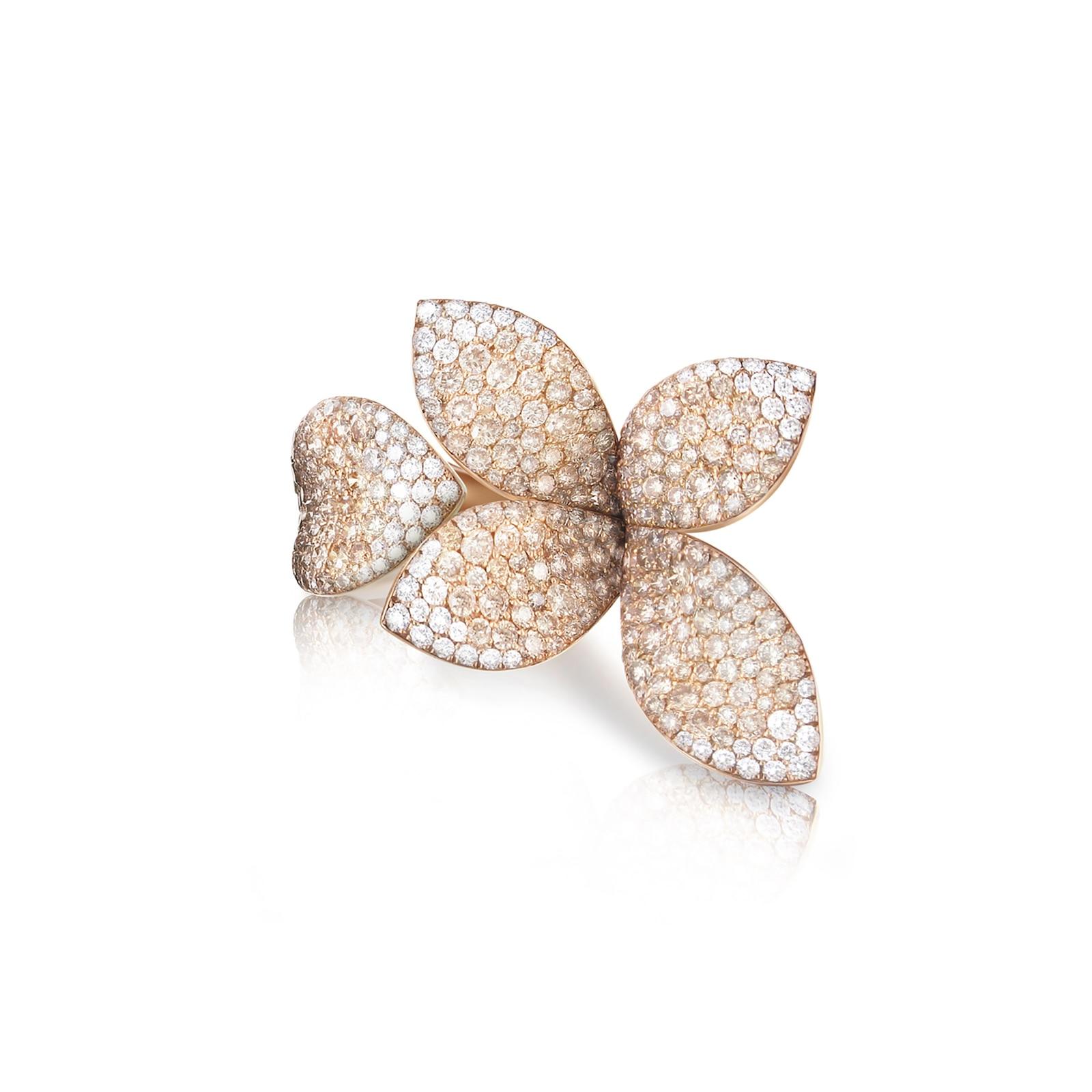 Pasquale Bruni Giardini Segreti Ring With White And Champagne Diamonds
