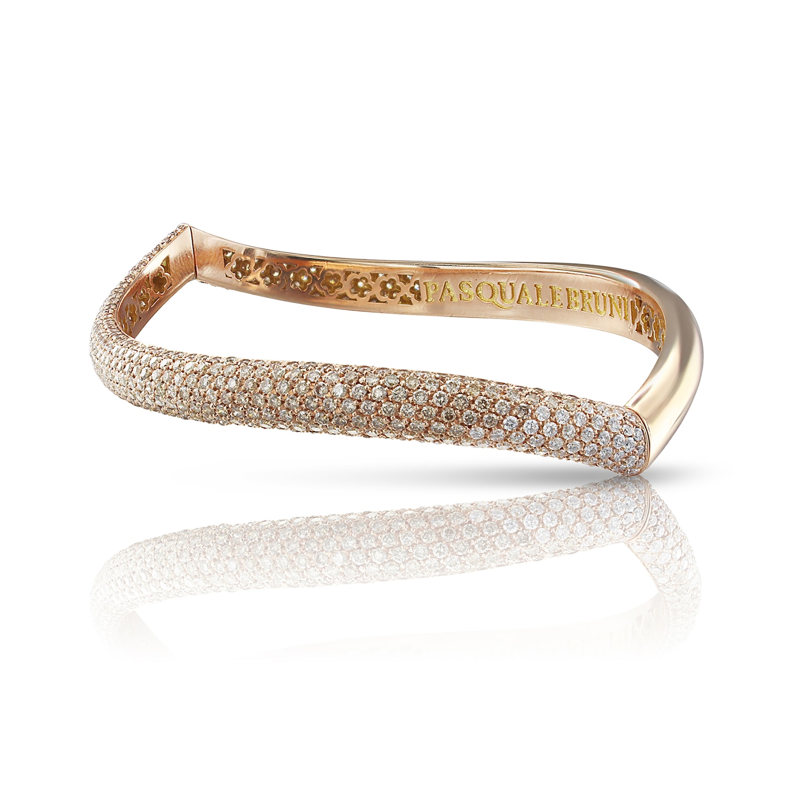 Pasquale Bruni Sensual Touch Bracelet With White And Champagne Diamonds