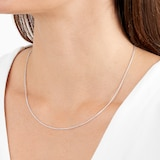 Goldsmiths 9ct White Gold Spiga 18 Inch Necklace