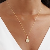 Goldsmiths 9ct Yellow Gold St Christopher Pendant Necklace