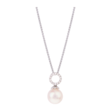Goldsmiths 18ct White Gold Akoya Pearl Pendant
