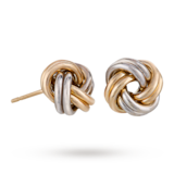 Goldsmiths 9ct Gold Knot Stud Earrings