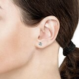 Goldsmiths 9ct White Gold Flat Knot Stud Earrings