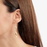Goldsmiths 9 Carat Yellow Gold Twist Drop Earrings