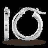 Goldsmiths 9ct White Gold 18mm Hoop Earrings